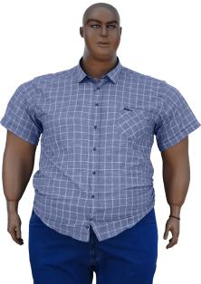 Bettino рубашка короткий рукав в клетку с карманом